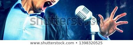 Afbeelding kaukasisch expressief man Open mond Stockfoto © amok