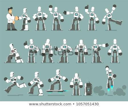 Cartoon Robot Characters Large Set Stock photo © izakowski
