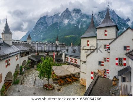 Kale Avusturya yüksek üzerinde kasaba vadi Stok fotoğraf © borisb17