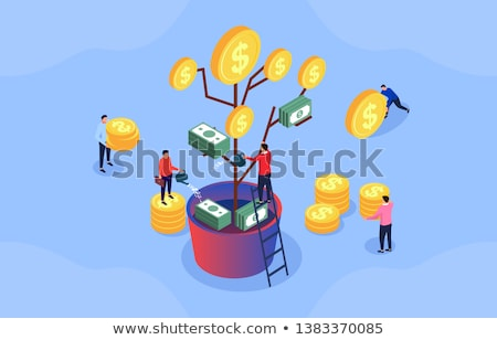 Plant and Coins, Dollar Sign, Money Tree Vector Stock photo © robuart