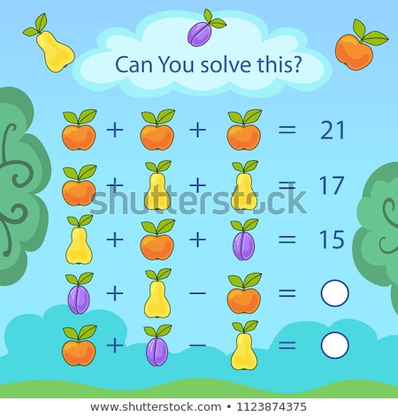 counting kids educational task color book Stock photo © izakowski