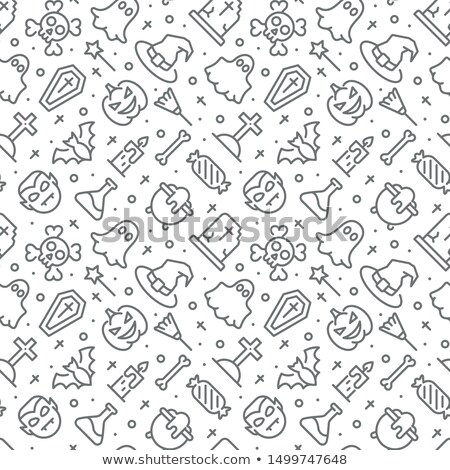 halloween icons pattern stock photo © netkov1