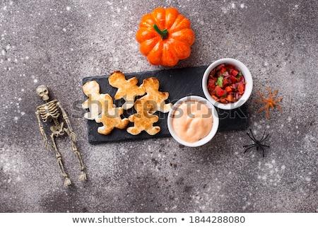Stockfoto: Brood · vorm · mannen · halloween · scary · voorgerechten