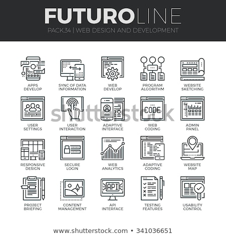 Computer Smartphone System Vector Thin Line Icon Stock photo © pikepicture