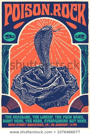 Musica altoparlanti nero poster design party Foto d'archivio © SArts