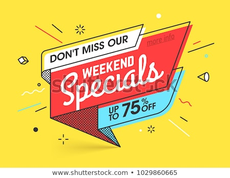 Especial promoção compras 80 por cento venda Foto stock © robuart