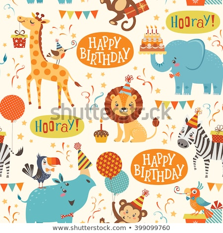 Birthday Candles Seamless Pattern Stock photo © Anna_leni