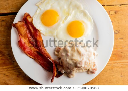 American Biscuits and Sausage Gravy Stock photo © StephanieFrey
