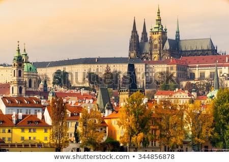 表示 プラハ 城 橋 チェコ共和国 水 ストックフォト © borisb17
