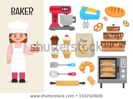 Chef Baker Cook Cartoon Set Stock photo © patrimonio