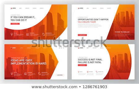 Virtualization technology concept landing page Stock photo © RAStudio