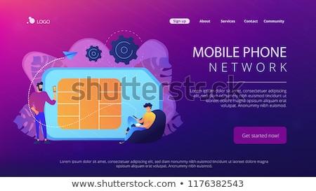 синий · телефон · современных · gsm · мобильных · телефон - Сток-фото © robuart