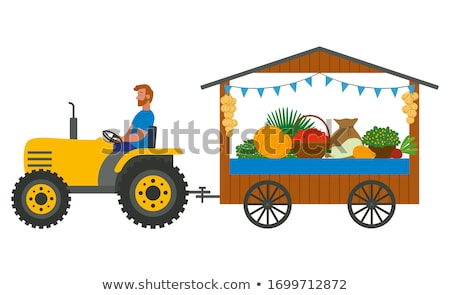 Counter or Market Place, Harvest Festival Vector Stock photo © robuart