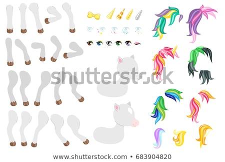 Rainbow Pony Standing Stock photo © Dazdraperma