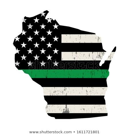 Wisconsin militärischen Unterstützung amerikanische Flagge Illustration Form Stock foto © enterlinedesign