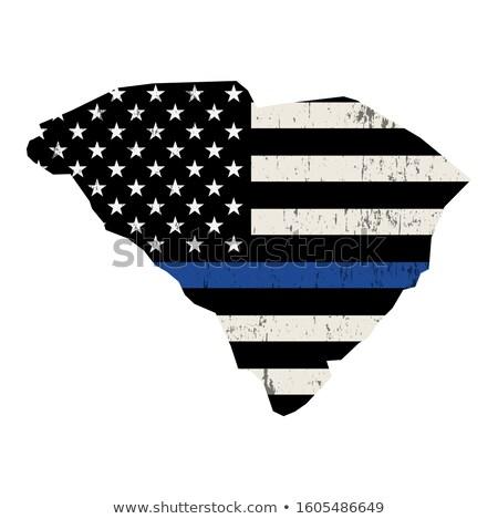 サウスカロライナ州 警察 サポート フラグ 実例 ストックフォト © enterlinedesign