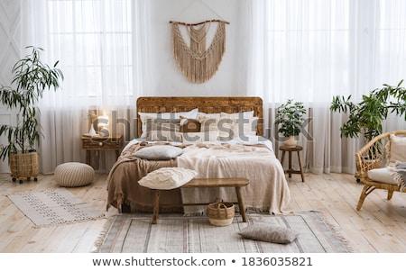 Vintage slaapkamer huis licht tabel hotel Stockfoto © nomadsoul1