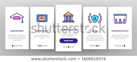 Academy Educational Onboarding Elements Icons Set Vector Stock photo © pikepicture
