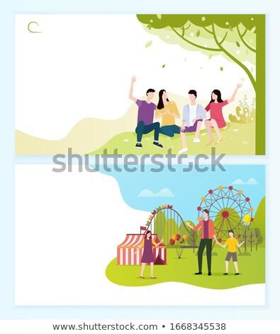歓迎 遊園地 人 ウェブ ベクトル ストックフォト © robuart