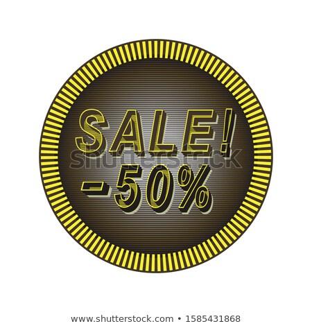 Nagy vásár 50 százalék el csökkentés Stock fotó © robuart