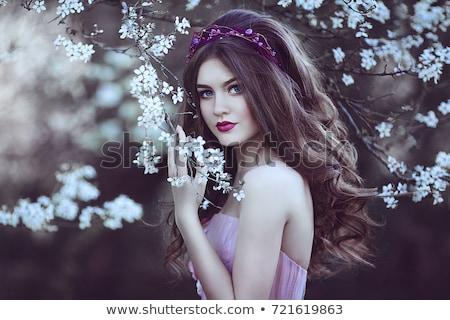 Retrato belo mulher jovem modelo rosa Foto stock © ElenaBatkova