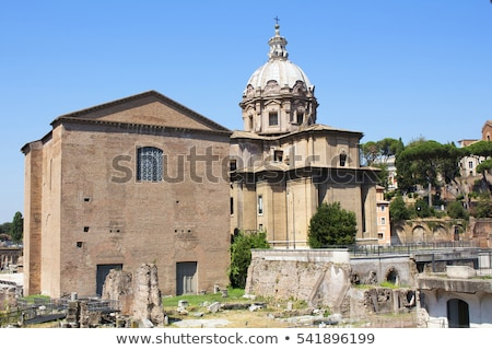 View of Curia Lulia. Also called Senate House, in the ancient ci Stock photo © Zhukow