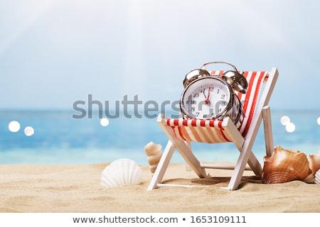 Despertador convés cadeira praia ensolarado praia tropical Foto stock © AndreyPopov