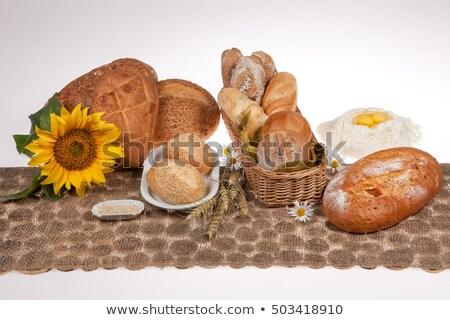 Still life of walnut loaf bread  Stock photo © grafvision