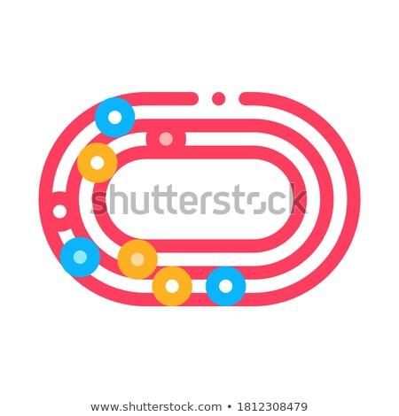 Maraton stadyum üst görmek ikon vektör Stok fotoğraf © pikepicture