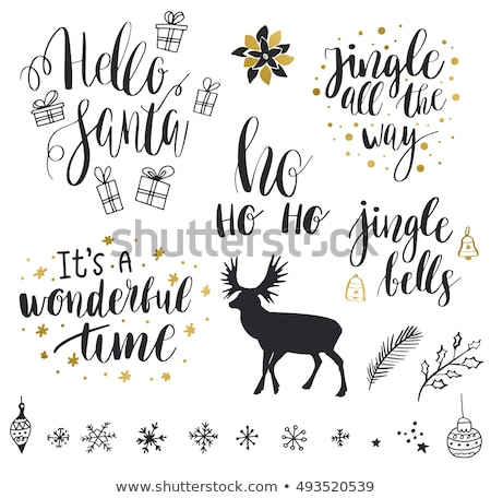Merry Christmas, Jingle Bells Collection of Cards Stock photo © robuart