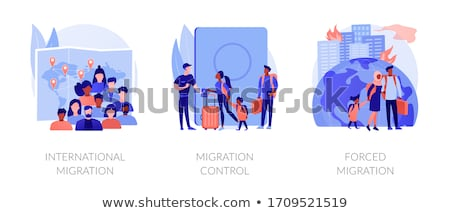 Refugees, forced displacement abstract concept vector illustrations. Stock photo © RAStudio