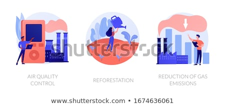 Environment protection measures, flora restoration, atmosphere purification vector concept metaphors Stock photo © RAStudio