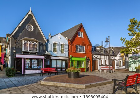 квадратный Ирландия небольшой ярко домах Сток-фото © borisb17