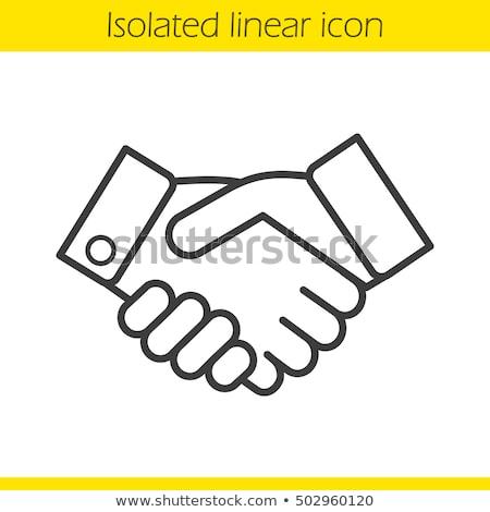 Duas pessoas acordo ícone vetor ilustração Foto stock © pikepicture