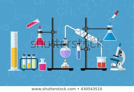 Klinisch laboratorium analyse iconen cartoon ingesteld Stockfoto © RAStudio