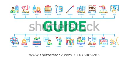 Guide Lead Traveler Minimal Infographic Banner Vector Stock photo © pikepicture