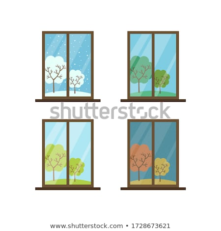 Window View from Inside in Winter Season Vector Stock photo © robuart