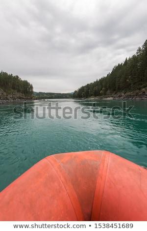 ラフティング ボート遊び 川 ロシア 森林 風景 ストックフォト © olira