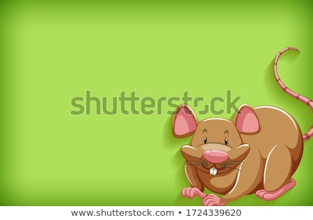 Background template with plain color and brown mouse Stock photo © bluering