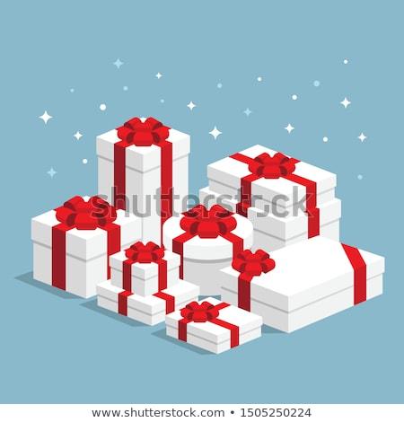 3D cartón cajas aislado blanco Foto stock © kup1984