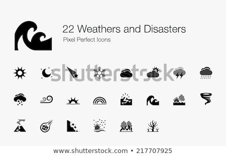 Terremoto catástrofe coleção vetor edifício Foto stock © pikepicture