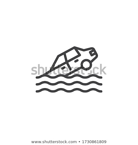 Zinken auto icon vector schets illustratie Stockfoto © pikepicture