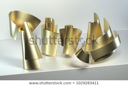 металл 3D конус белый изолированный Сток-фото © evgeny89