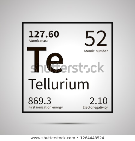 Tellurium chemical element with first ionization energy, atomic mass and electronegativity values ,s Stock photo © evgeny89