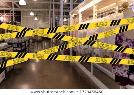 lockdown concept of coronavirus covid19. We re closed due to cor Stock photo © Wetzkaz