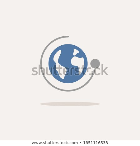 Moon rotation around the Earth. New phase. Icon. Weather vector illustration Stock photo © Imaagio