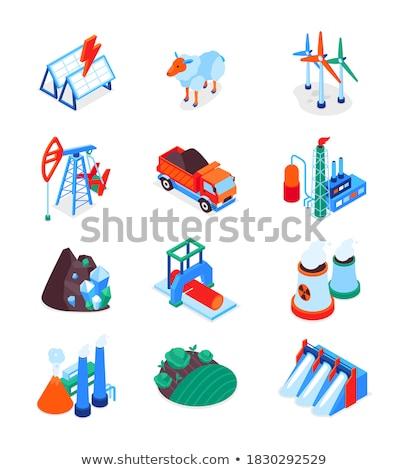 Przemysł naftowy nowoczesne kolorowy izometryczny obrotu Zdjęcia stock © Decorwithme