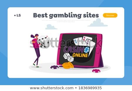 Hazárdjáték jövedelem app interfész sablon lottó Stock fotó © RAStudio