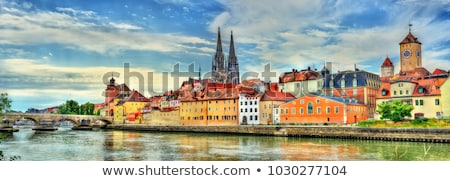 Regensburg towers Stock photo © manfredxy