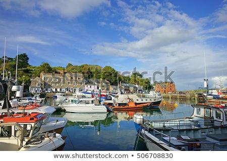 Fishing boat moored at Padstow Harbour, Cornwall Stock photo © trgowanlock